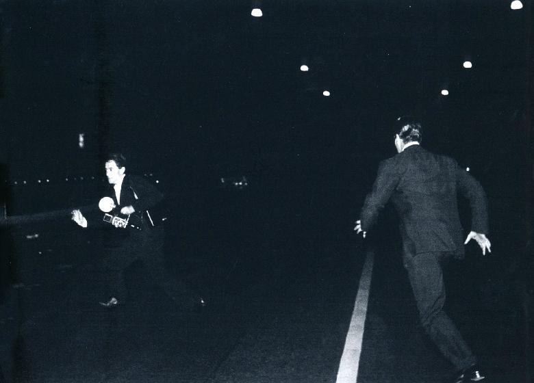 Tazio Secchiaroli, Photographer and Anthony Steel, 1958