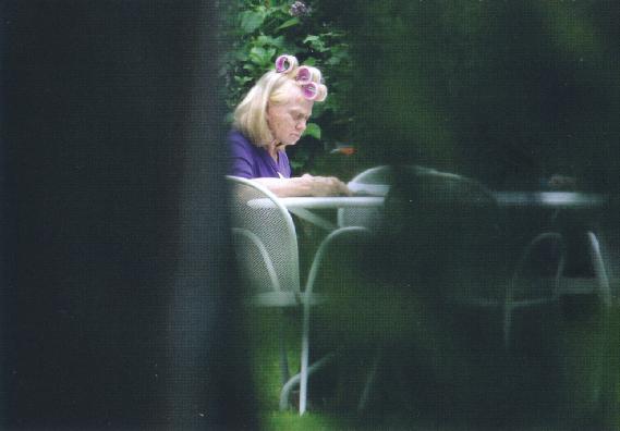 Calvo Corrado,  Rita Pavone  (famous Italian singer and actress) in her garden, 2013
