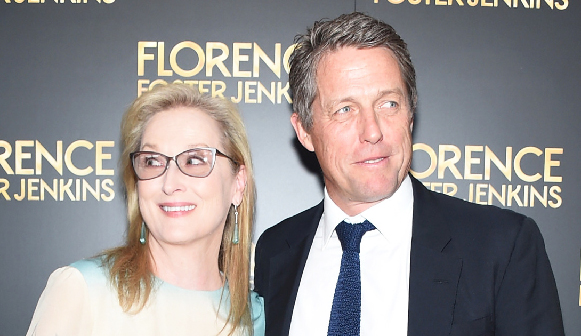 Anonymous photographer,  Meryl Streep and Hugh Grant,  at a film premiere, 2016