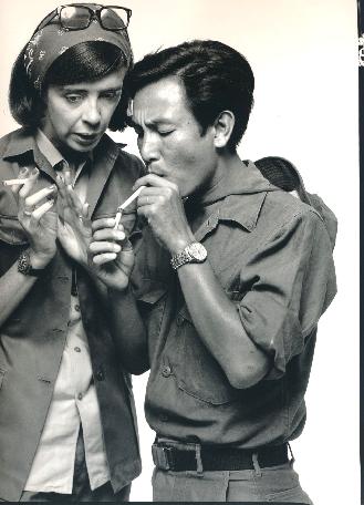 Richard Avedon,  New York Times Correspondent With Nguyen Ngoc Luong, Interpreter, Saigon, Vietnam, April 1, 1971