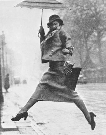 Martin Munkacsi,  Jumping a Puddle , for Harper's Bazaar, April 1934