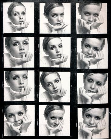 Ronald Traeger,  Proof Sheet, Twiggy, 1967
