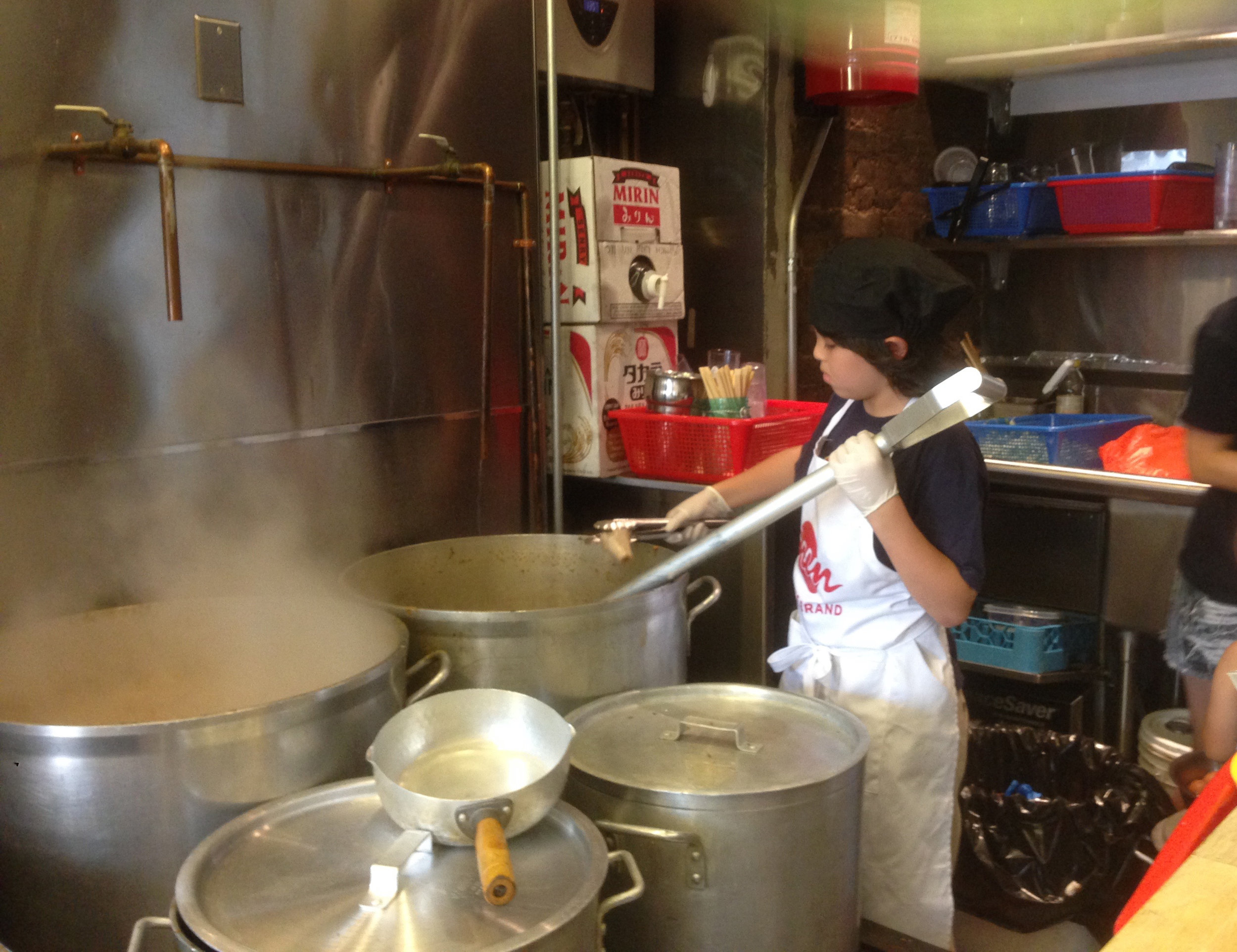 Josh during his volunteer days at Ramen Lab, NYC