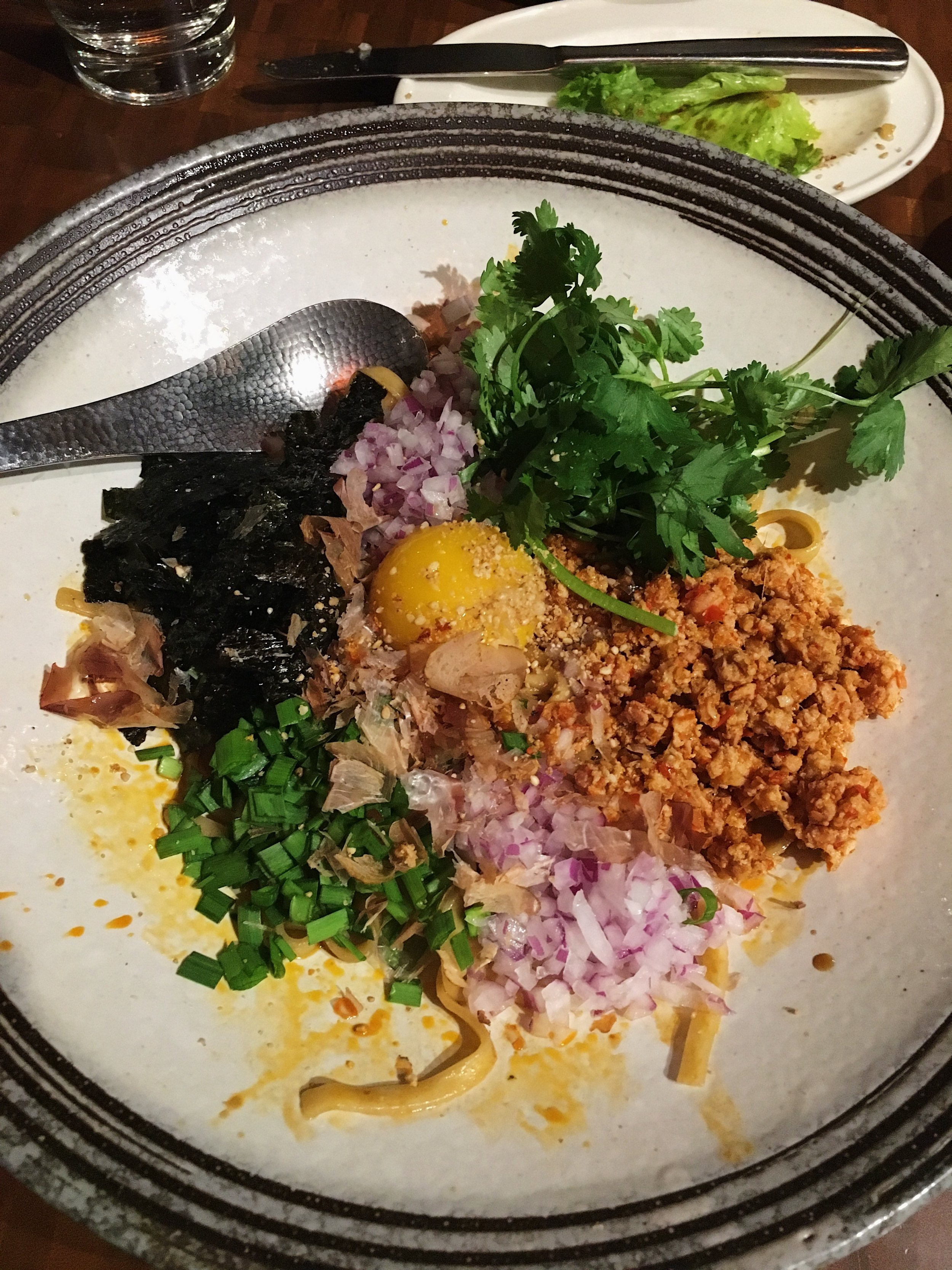 Spicy Chicken Soboro Toss Noodle - Nojo Ramen Tavern - San Francisco, CA