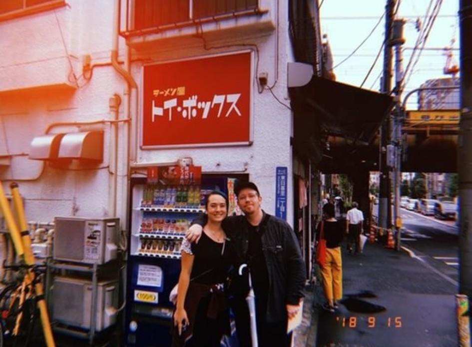 About to eat at Toybox Ramen shop ( Photo credit: Yuta Yamaoka )