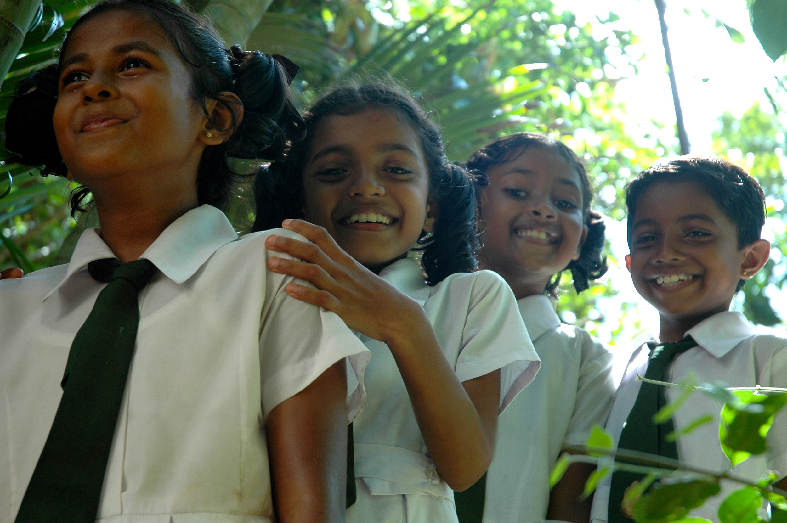 Students from the Saving Singharaja project,      Sri Lanka