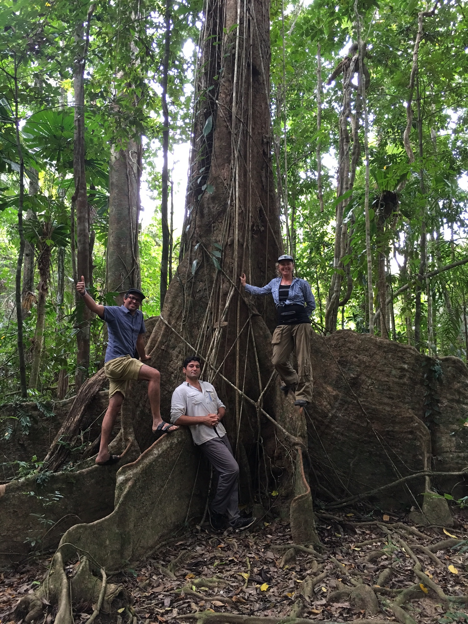 TRP founder Charith Senanayake with Rainforest champions Wren McLean and Maximo Bottaro.