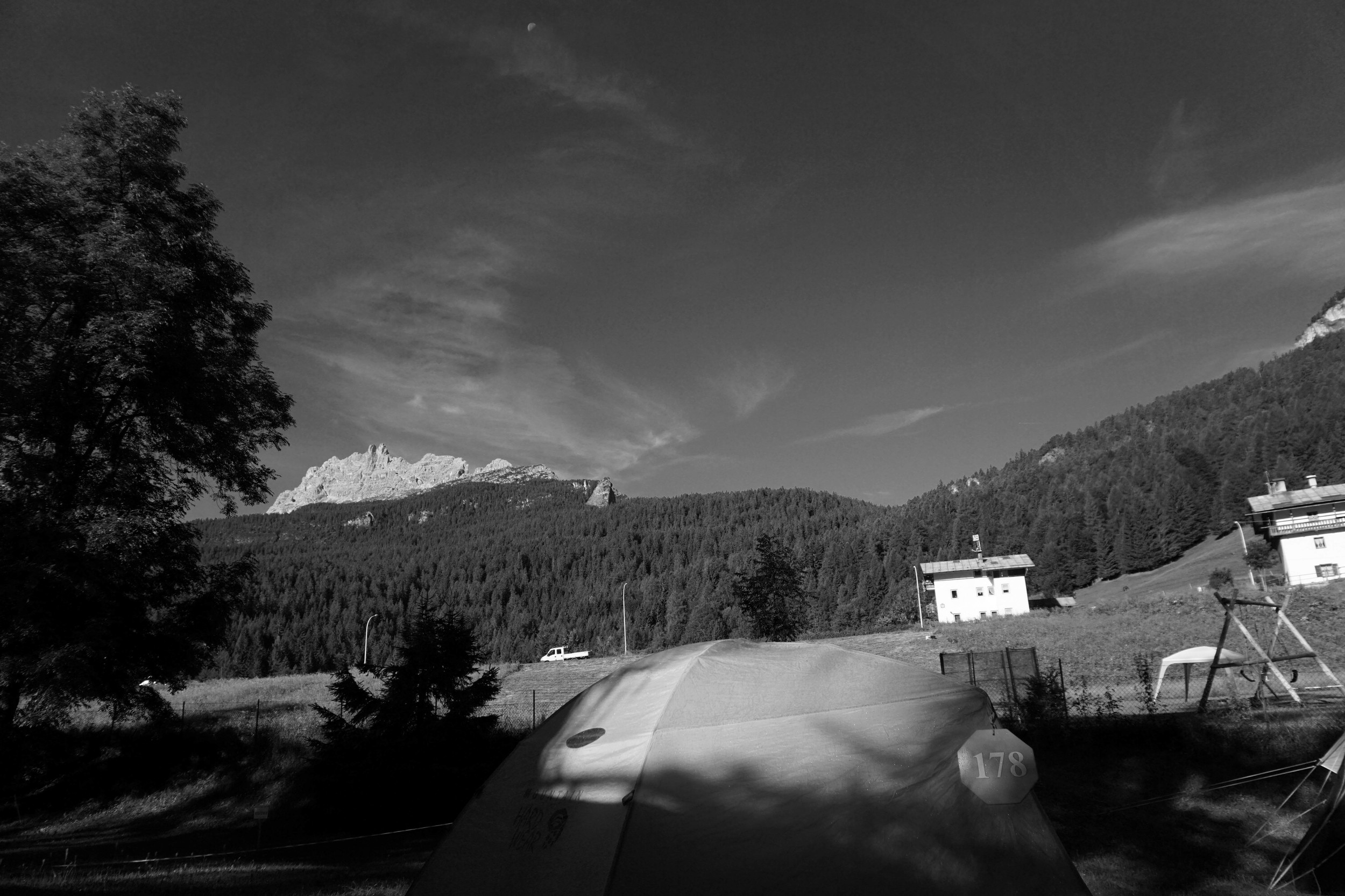 View from camp in Cortina