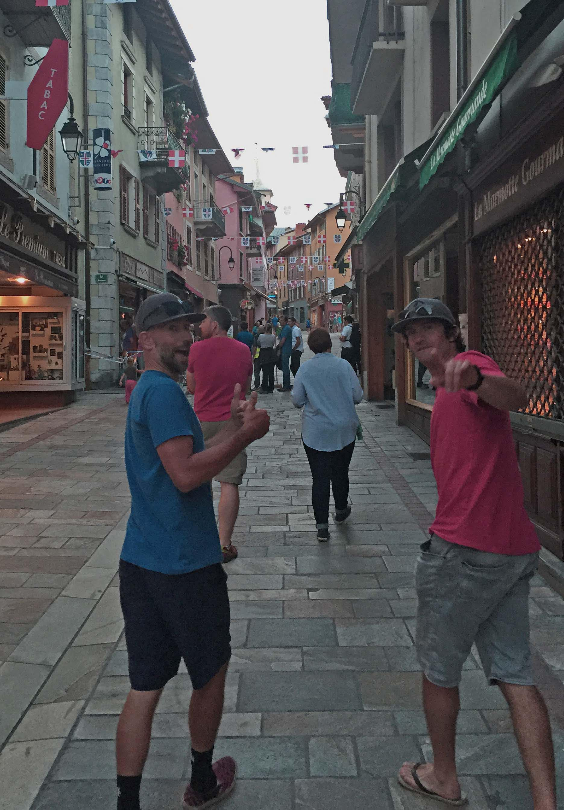 The mean streets of Bourg st. Maurice.