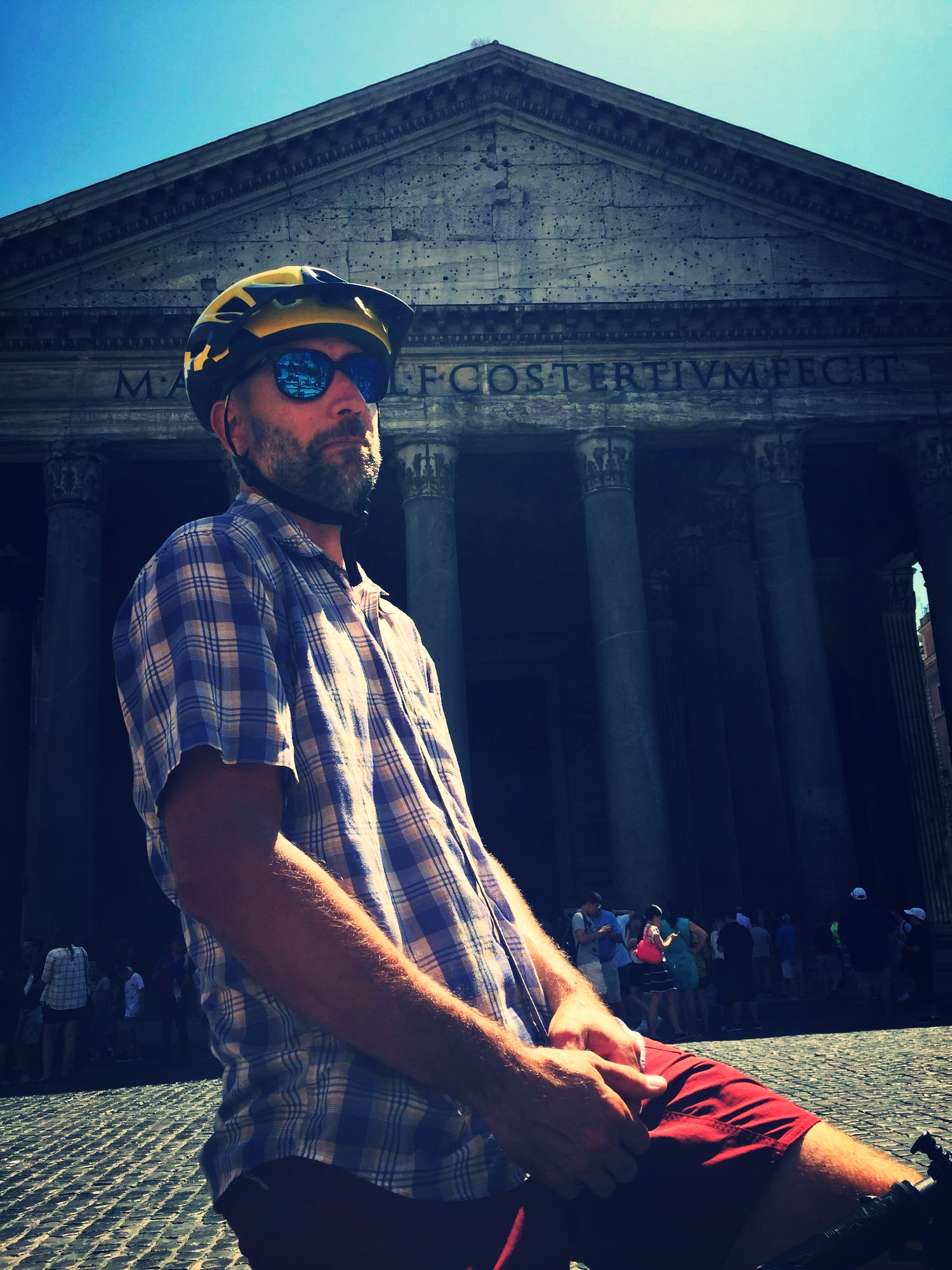 The Pantheon. Started being built in AD25. Old.