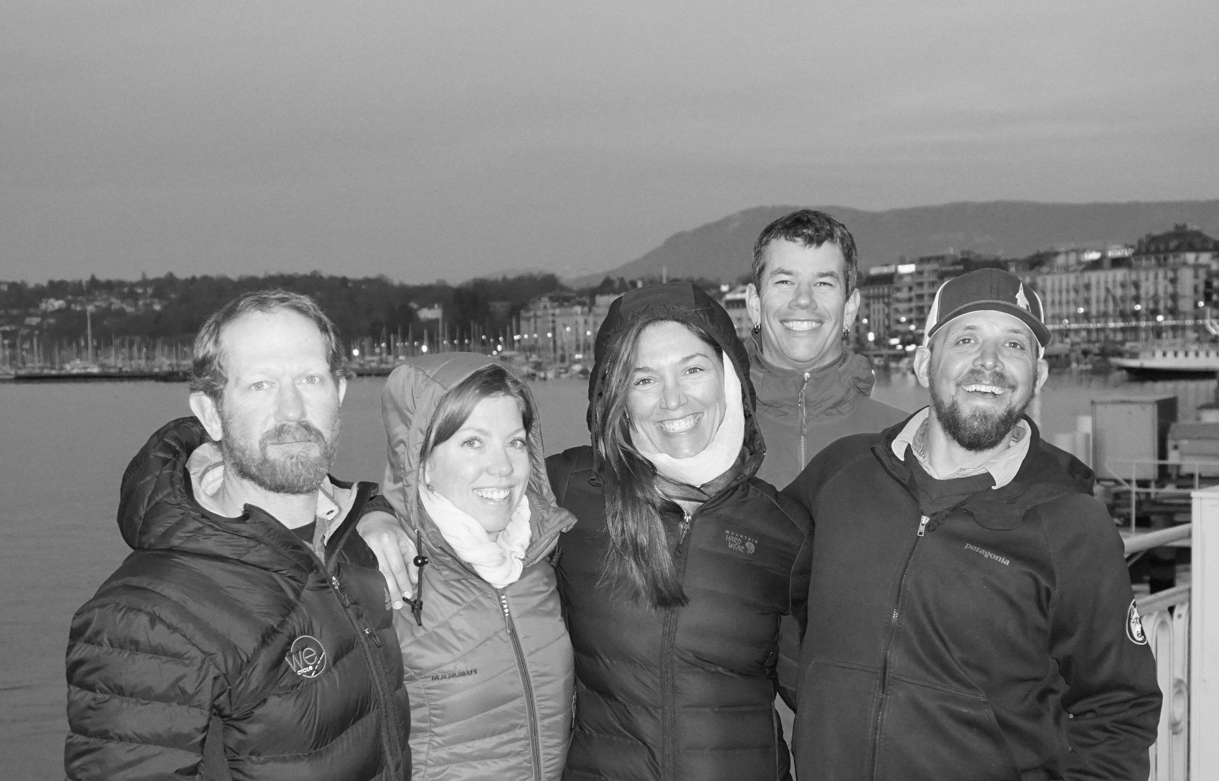 Tim Hugo, Kate Hugo, Heidi Hanssen, Owen Richard, and Charlie Wolf     Geneva, Switzerland. February 25, 2017