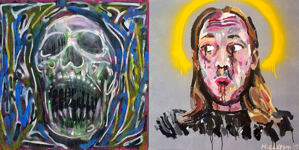 $900 - 'Self Portrait with Skull 2017'