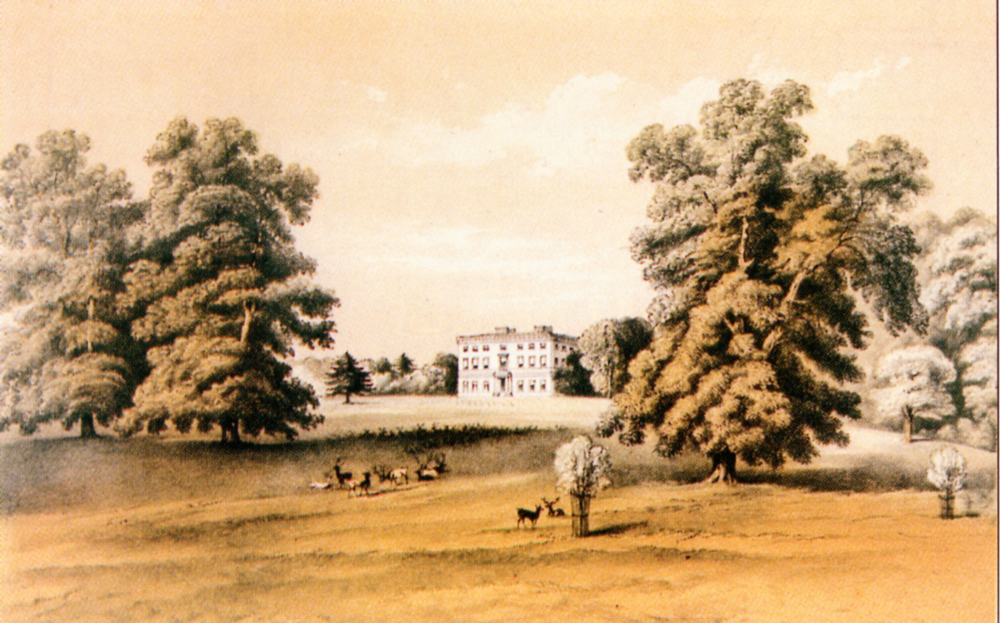 The Mansion (north front) Ashtead Park, from the 1880 Sale Particulars
