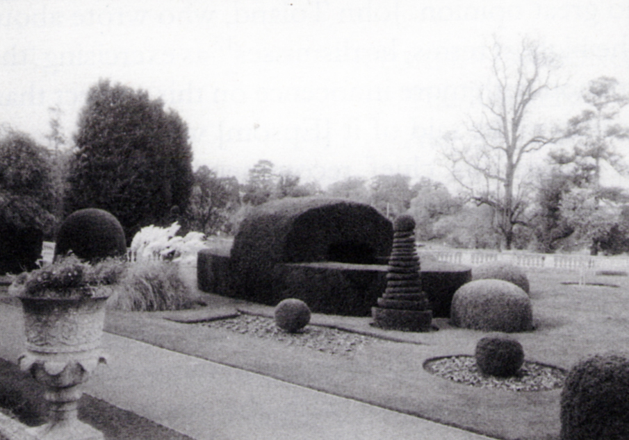 The topiary garden in 2000