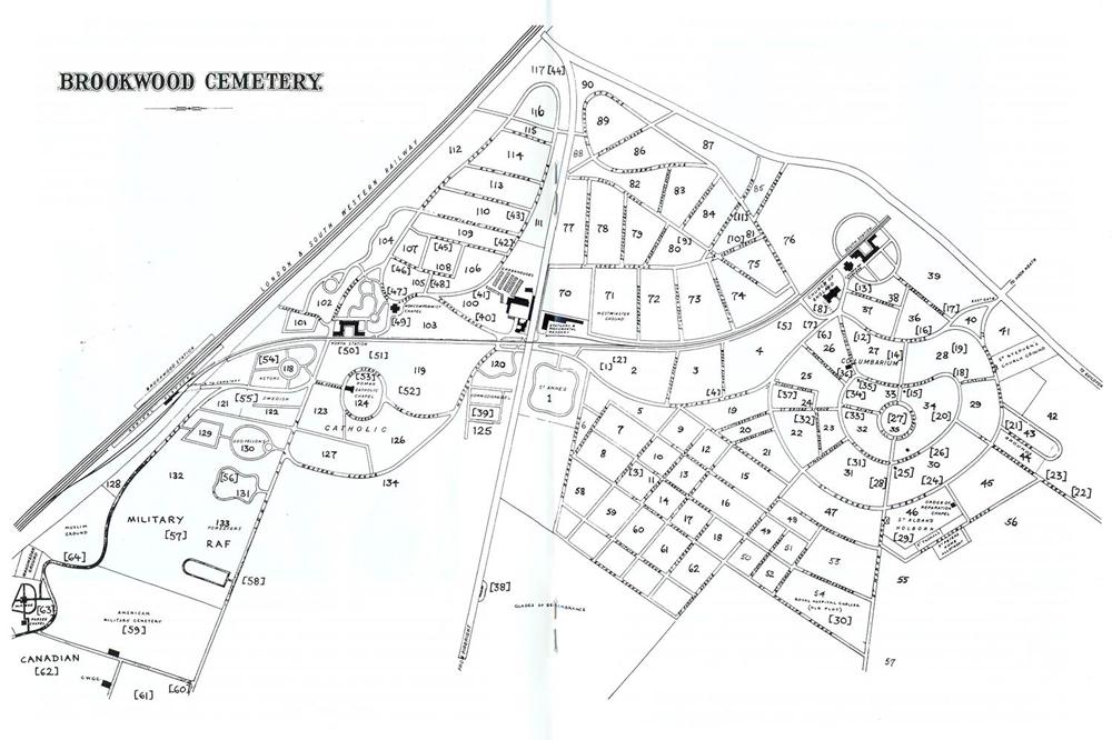 Plan of Brookwood Cemetery