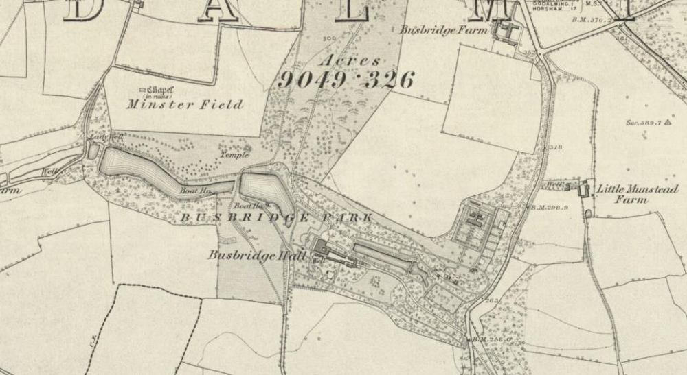 Extract from Surrey XXXVIII sheet six-inch OS map 1871