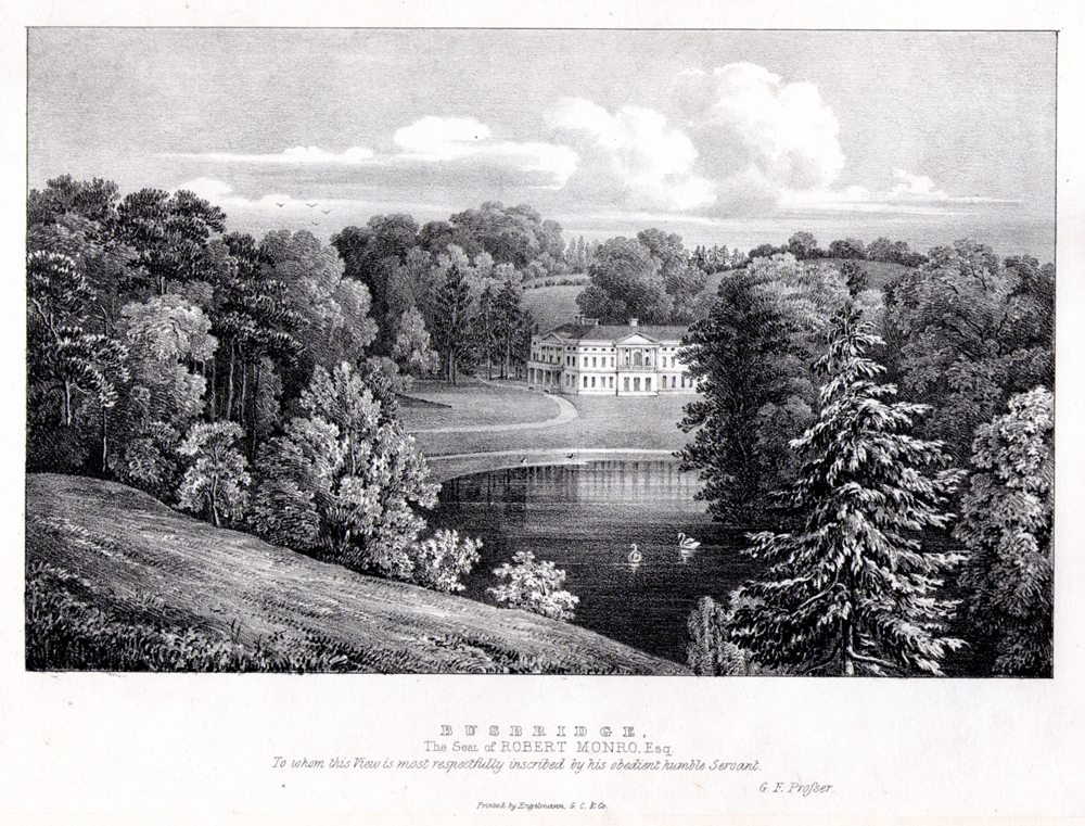 Engraving for H H Townsend who owned Busbridge Hall from 1792-1823