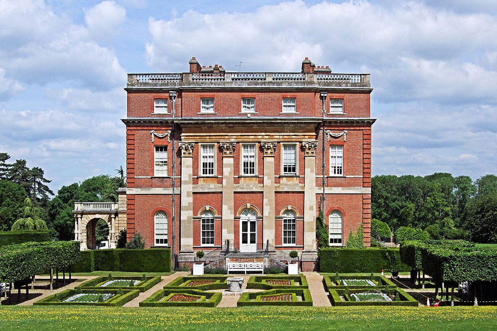 Clandon House – south front and parterre in 2014