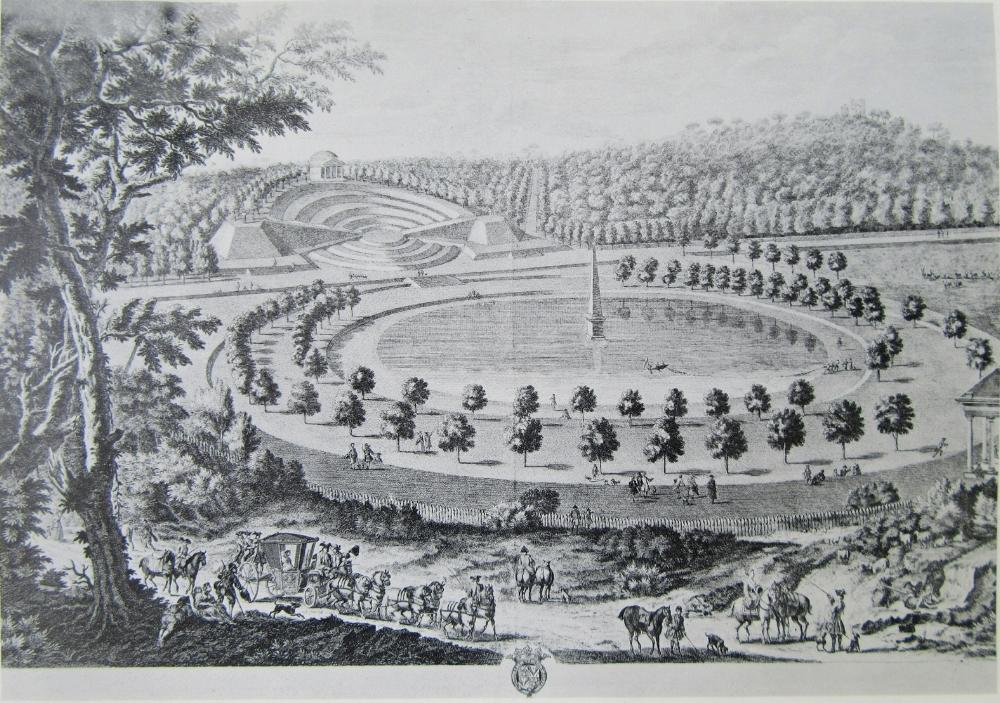 Engraving of the garden circa  1725 (anon)