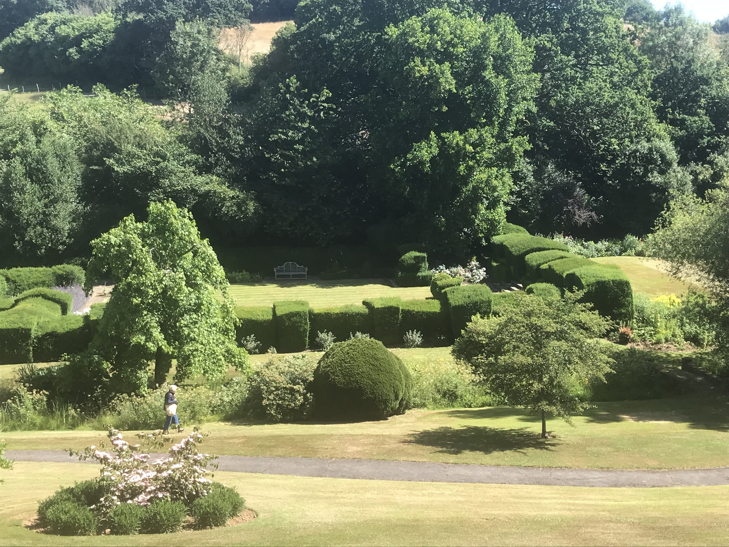 Reel Hall - View of Garden from Top Terrace