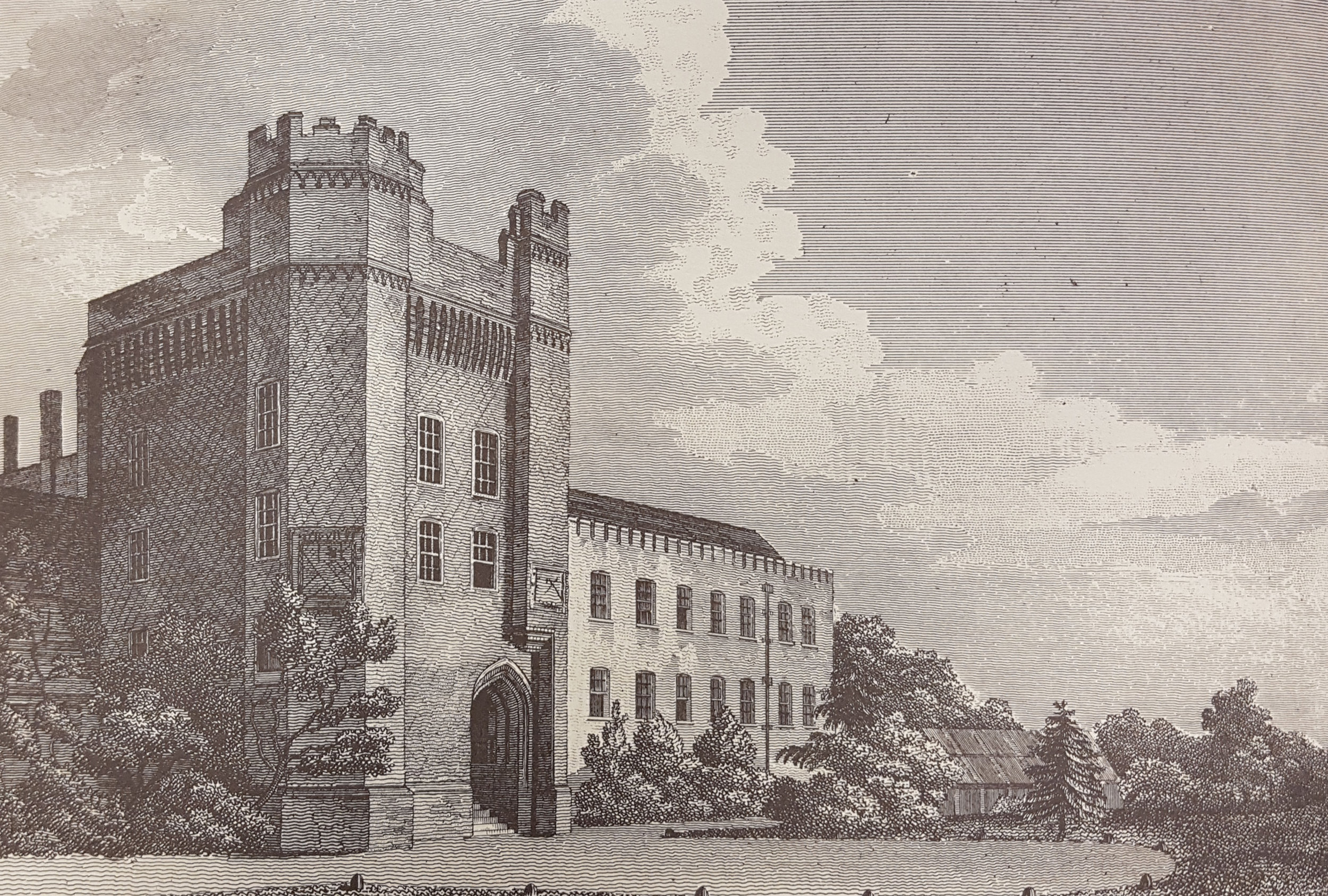 Farnham Castle from Manning & Bray's  History and Antiquities of the County of Surrey  1814
