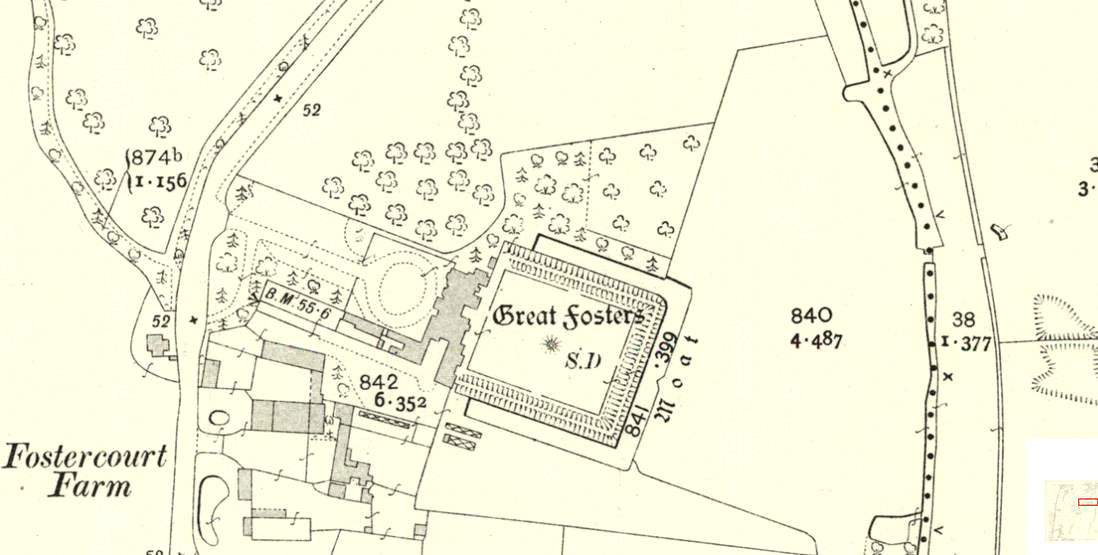Extract from OS 25 inch map Surrey V.13 dated 1912