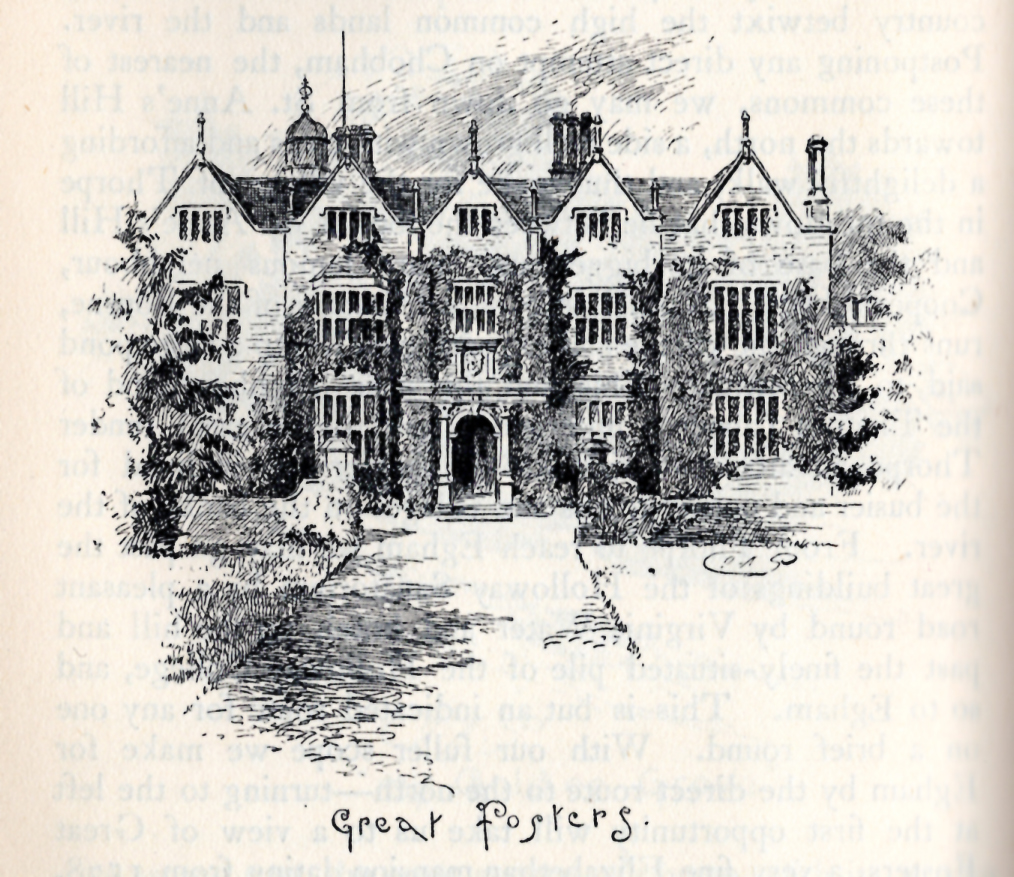 Sketch of Great Fosters from  Surrey  by Walter Jerrold, published 1901