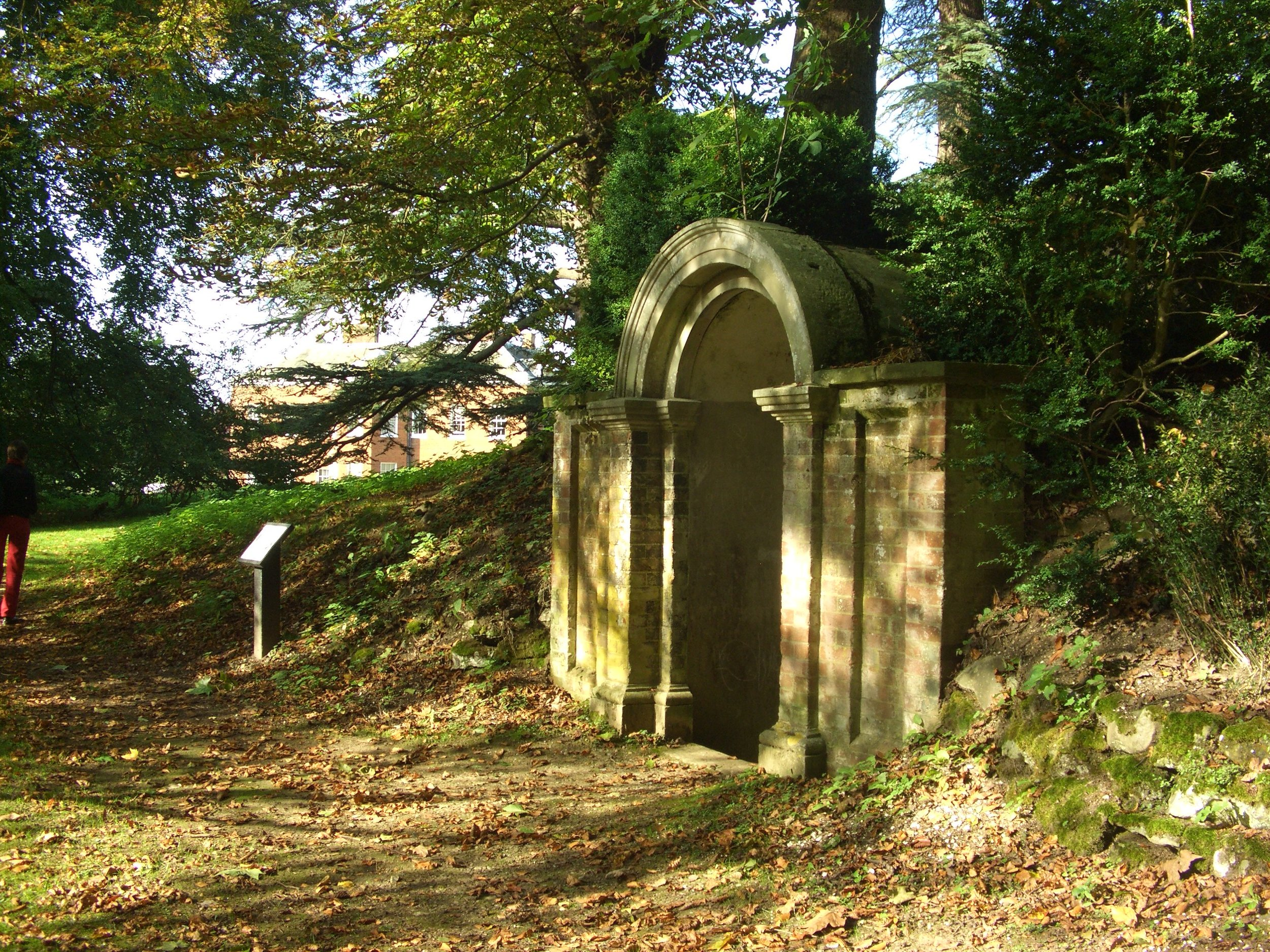 The ice house in the dell at Hatchlands in 2010