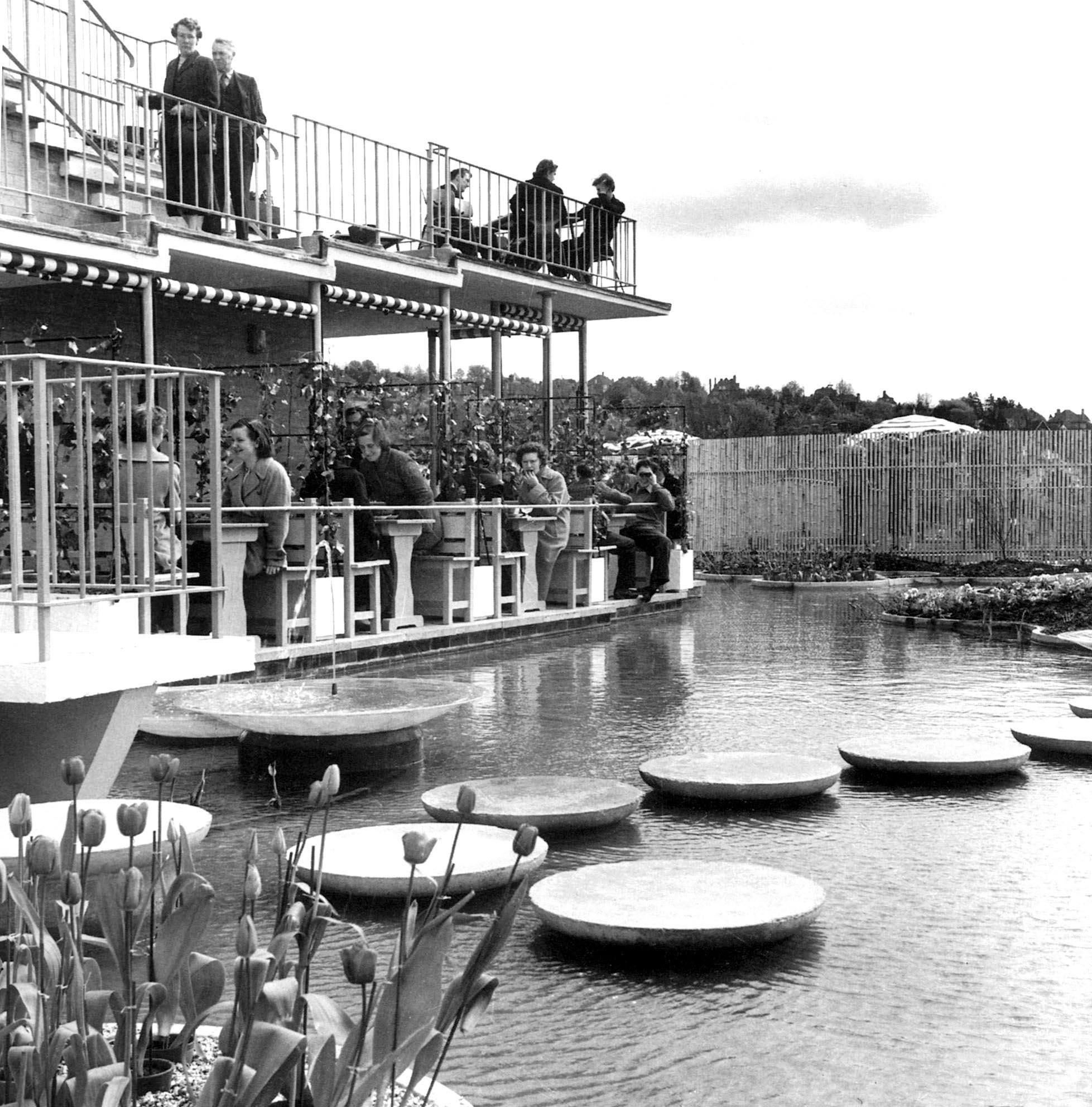 Tea on the terraces 1950s