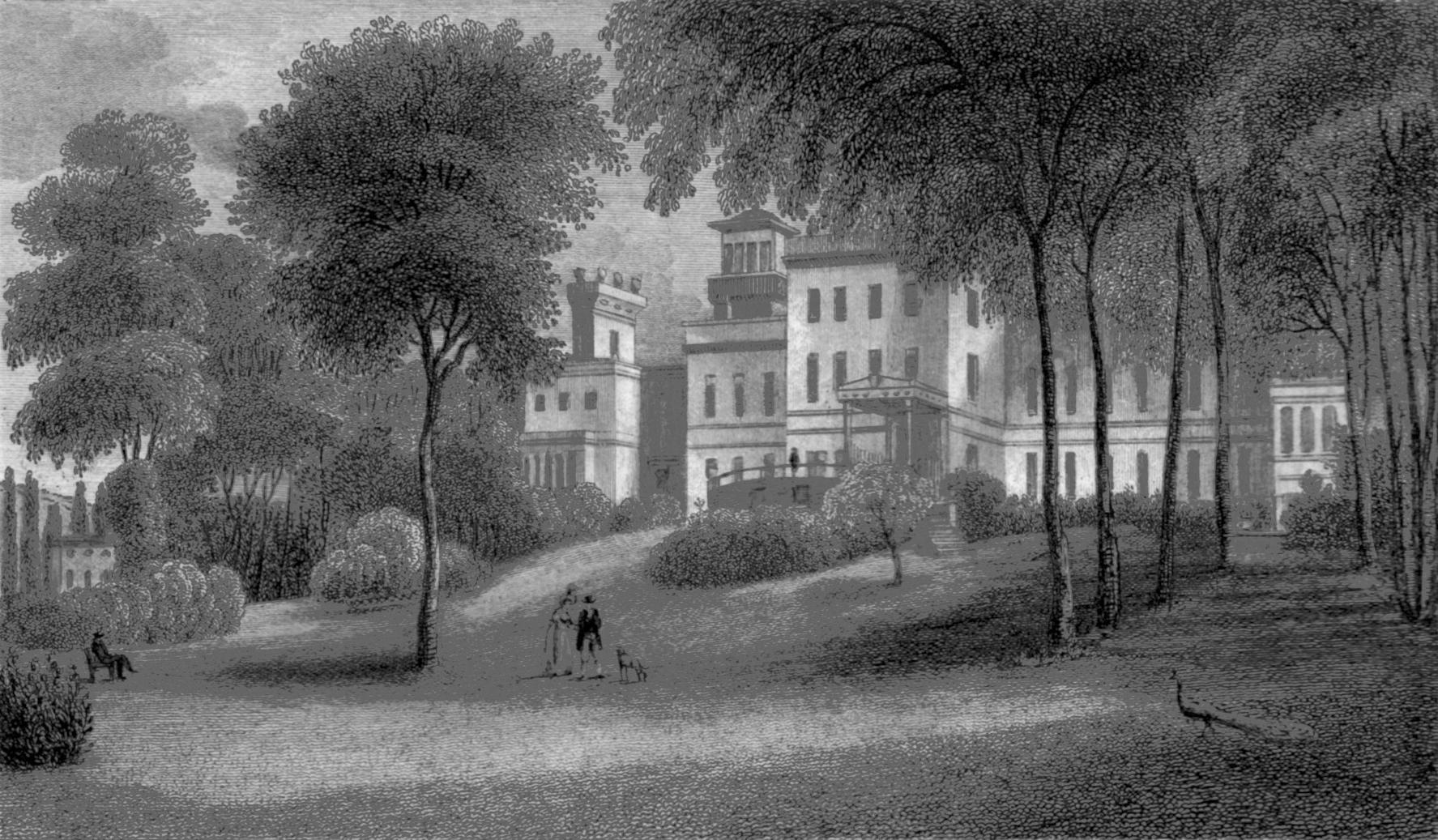 Deepdene, Surrey , by J Fletcher, circa 1840