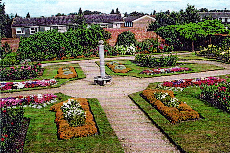 The rose garden at Frimley Park circa 2000