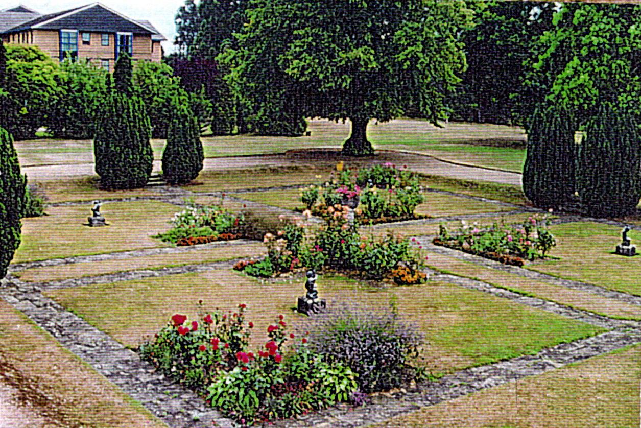 The sunk garden at Frimley Park circa  2000