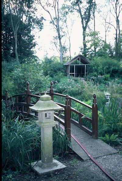 Part of the restored Japanese garden at Gatton Park in 2007