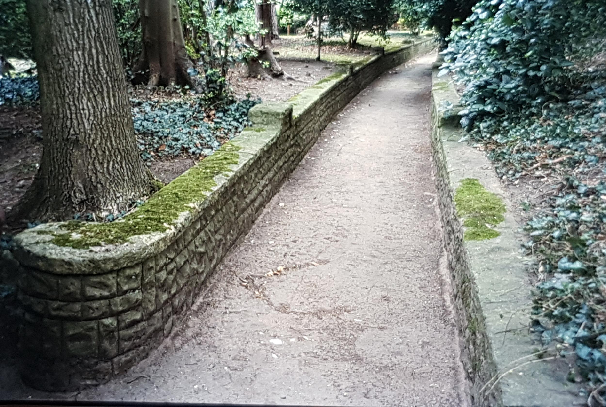 Pathway at Merrow Grange in 2002