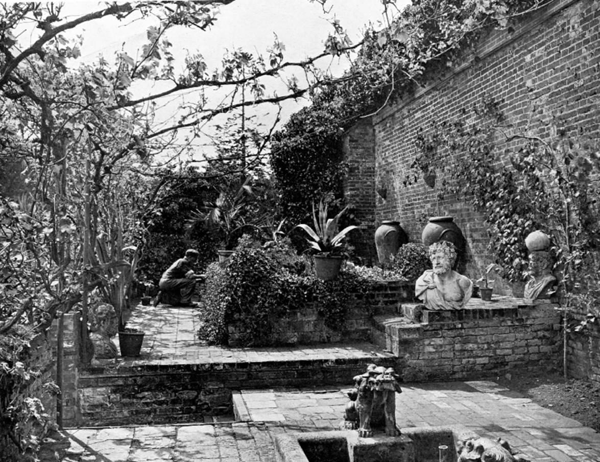 The Italian garden at Moor Park in 1902