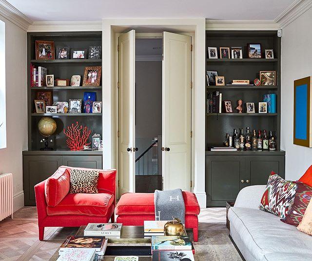 The Drawing Room #interiordesign #design #livingroomdecor #huxleyhome #joinery #havwoods #flexformmood #farrowandball Queens Park, NW10
