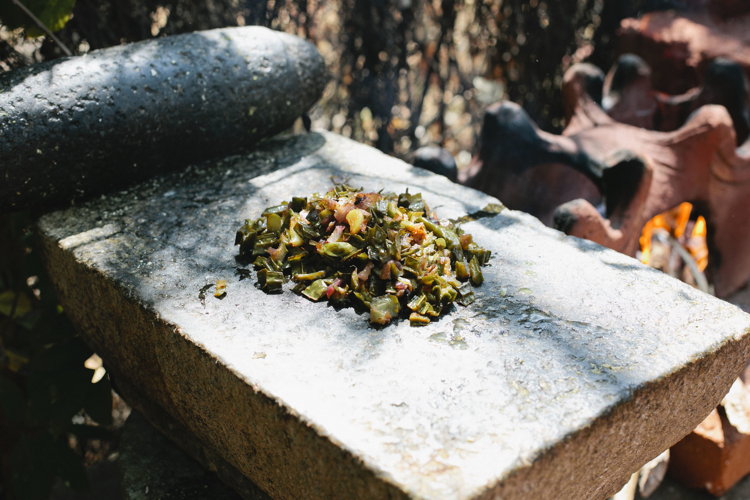 Traditional grinding stone at the Timbaktu Collective