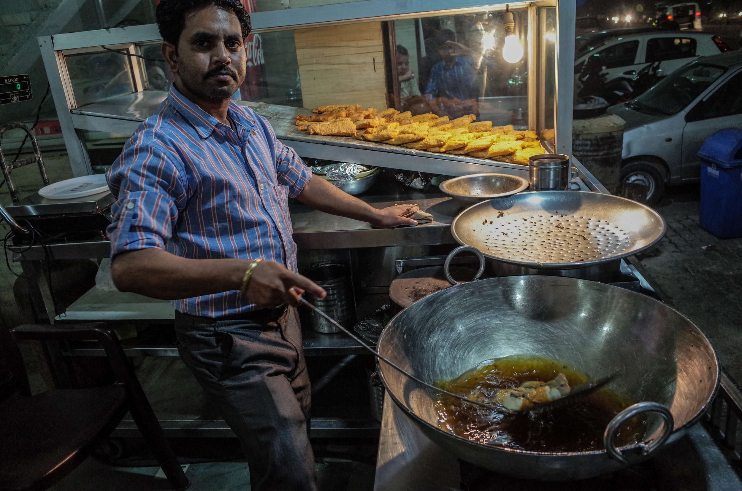 Amrtisari macchi is sold on street corners all over Punjab. The ajwain in the batter gives the dish an unmistakable, complex flavour.