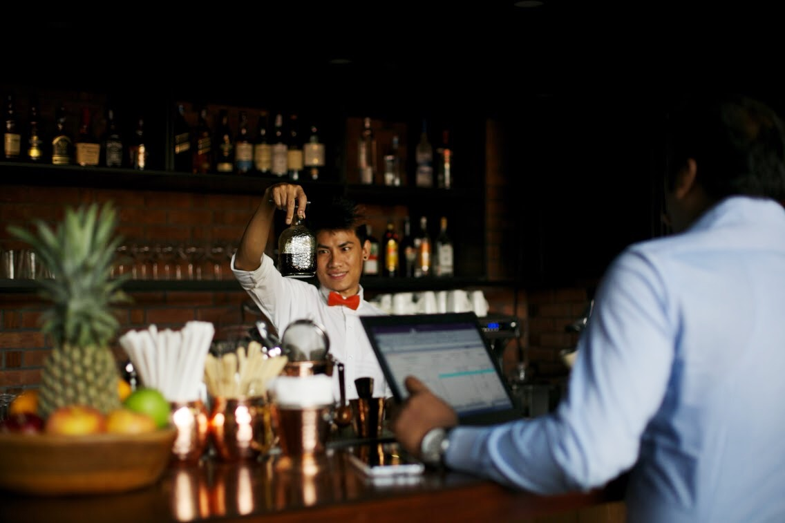 The bar at Smoke Co. Bengaluru