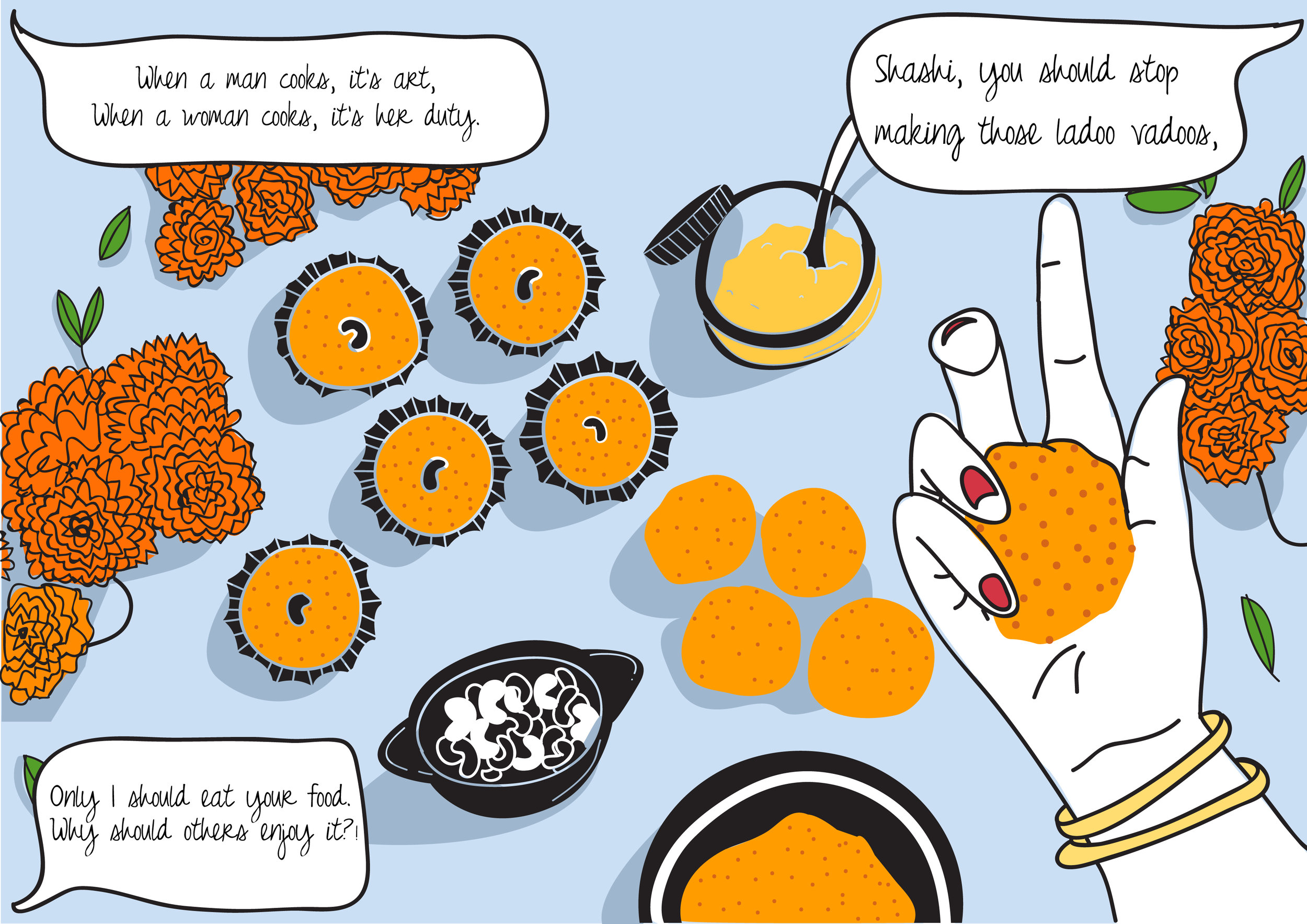 Sridevi making ladoos in English Vinglish | Mayukh Sen | Aakanksha Menon