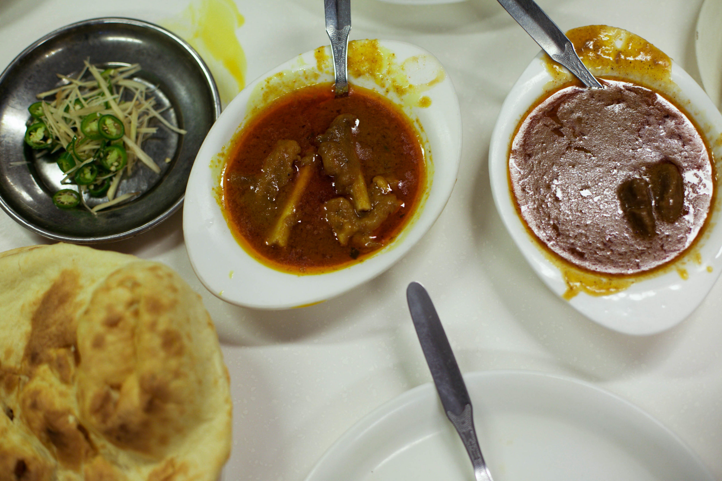 What breakfast in Old Delhi is complete without a portion of Nalli Nihari? Traditionally served after morning prayers, this dish of tender mutton, is slow-cooked till falling off the bone, to be mopped up with soft, fluffy bread.