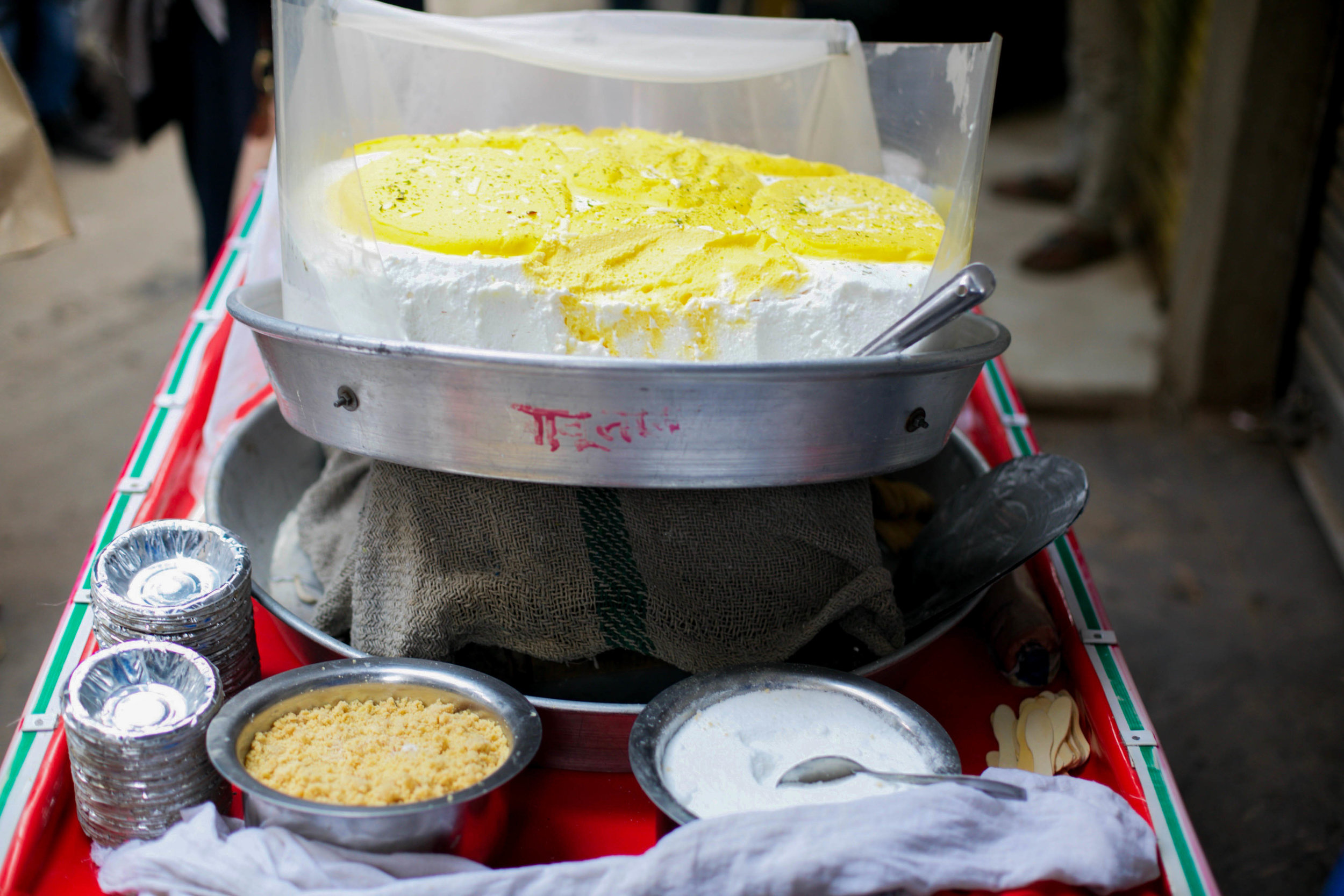 Daulat ki Chaat is a dish found only in the old city, in the coldest months of winter, because as legend has it, it is only then that the secret ingredient can only be sourced — winter dew