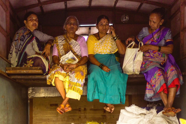Koli fisherwomen at the Sassoon Docks fishmarket, Mumbai