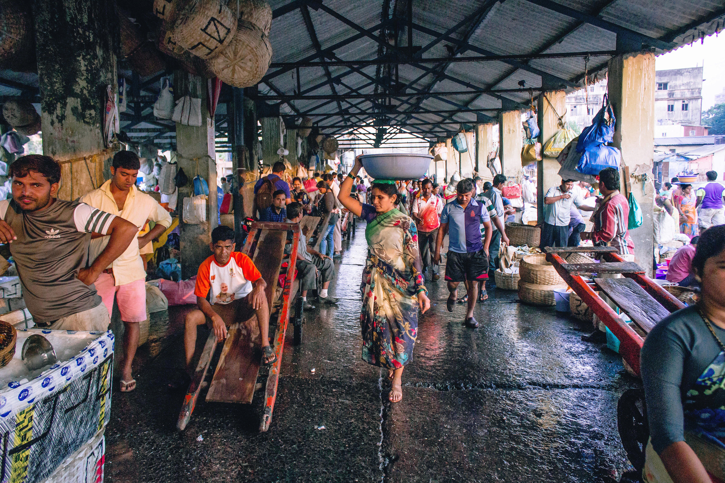 Sassoon Docks fish market, Mumbai