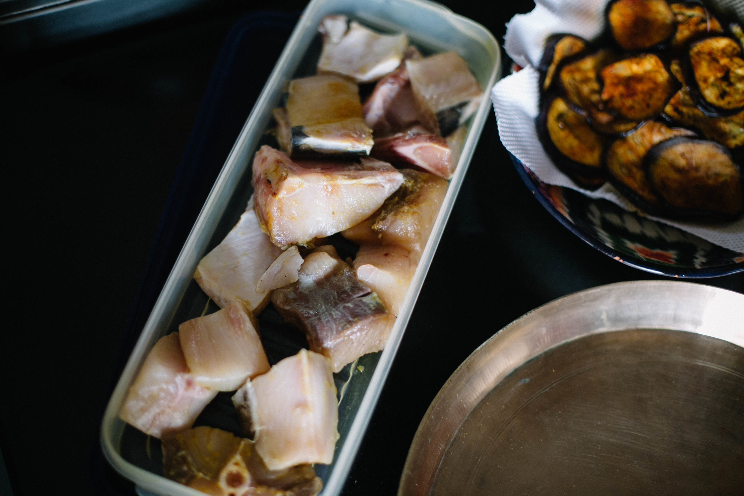 Fish prepped for Mangalore fish curry | #1000Kitchens