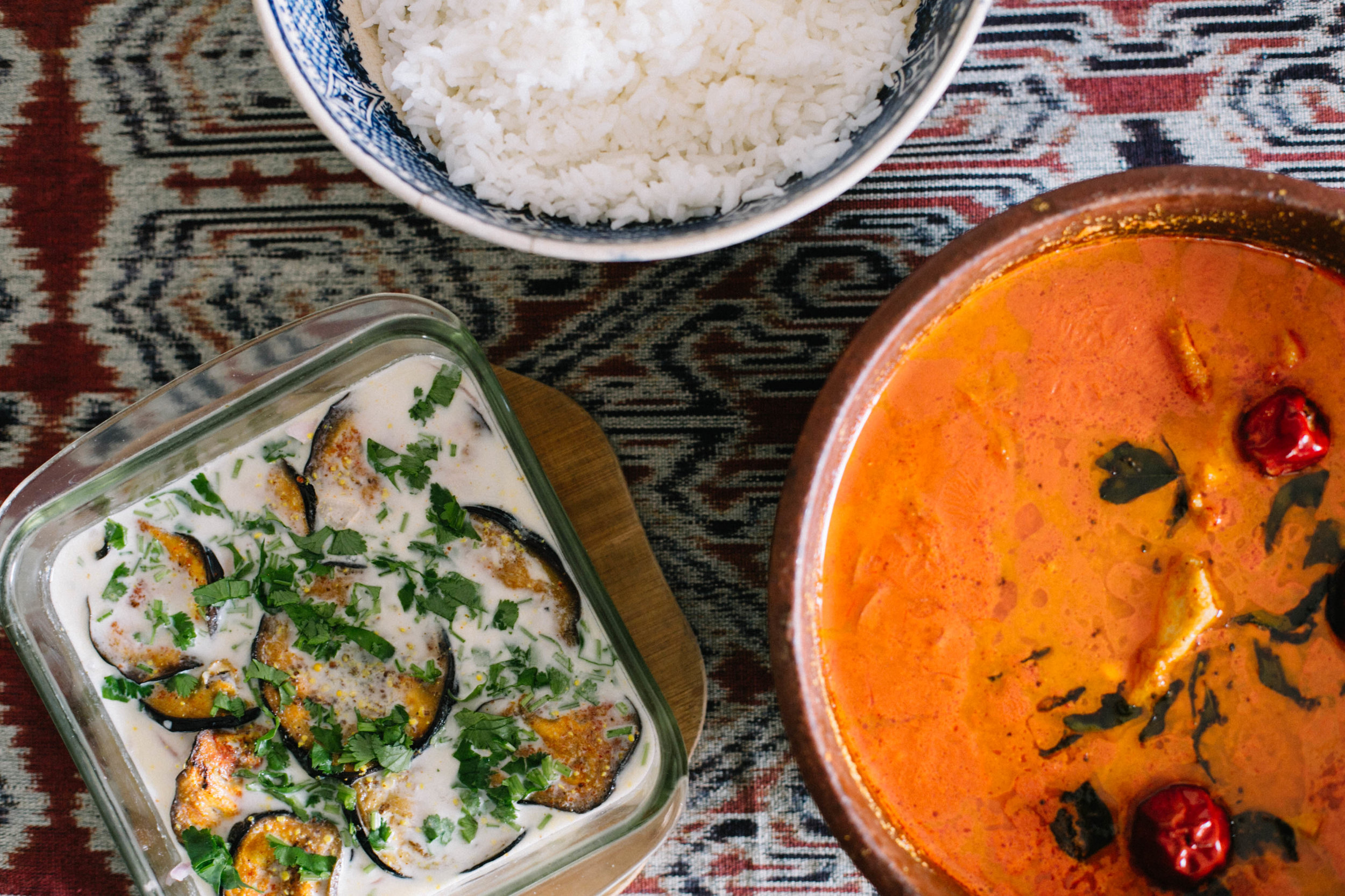 Jenny Pinto cooks Mangalore fish curry and brinjal in coconut milk for #1000Kitchens