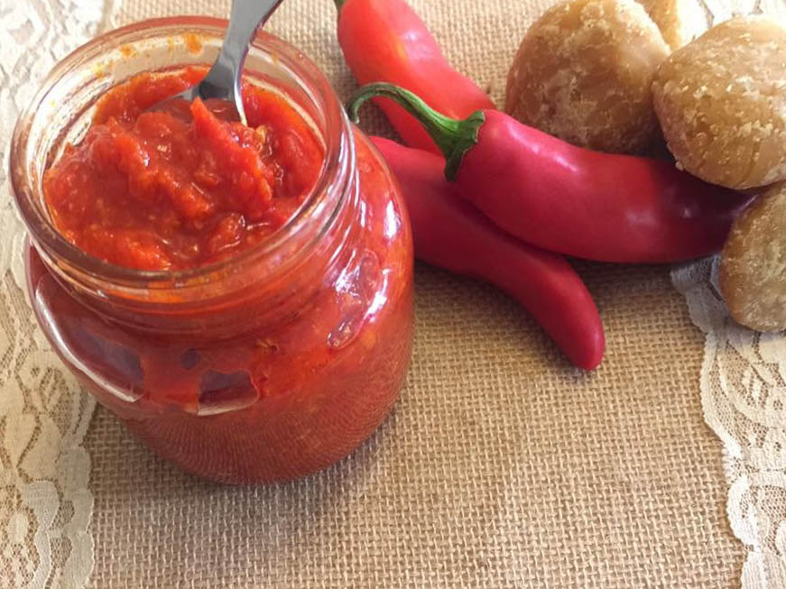 Red chilli pickle recipe with jaggery, vinegar and garlic | Goya recipe contest