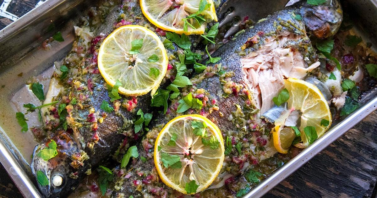 Stewed fish Armenian Christmas
