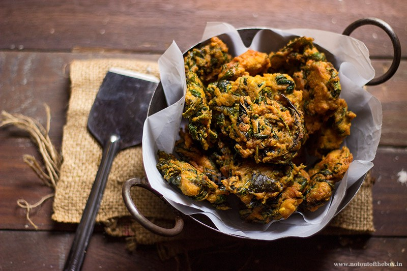 Patpatar bora or jute leaf fritters. Image by  Not Out of the Box .
