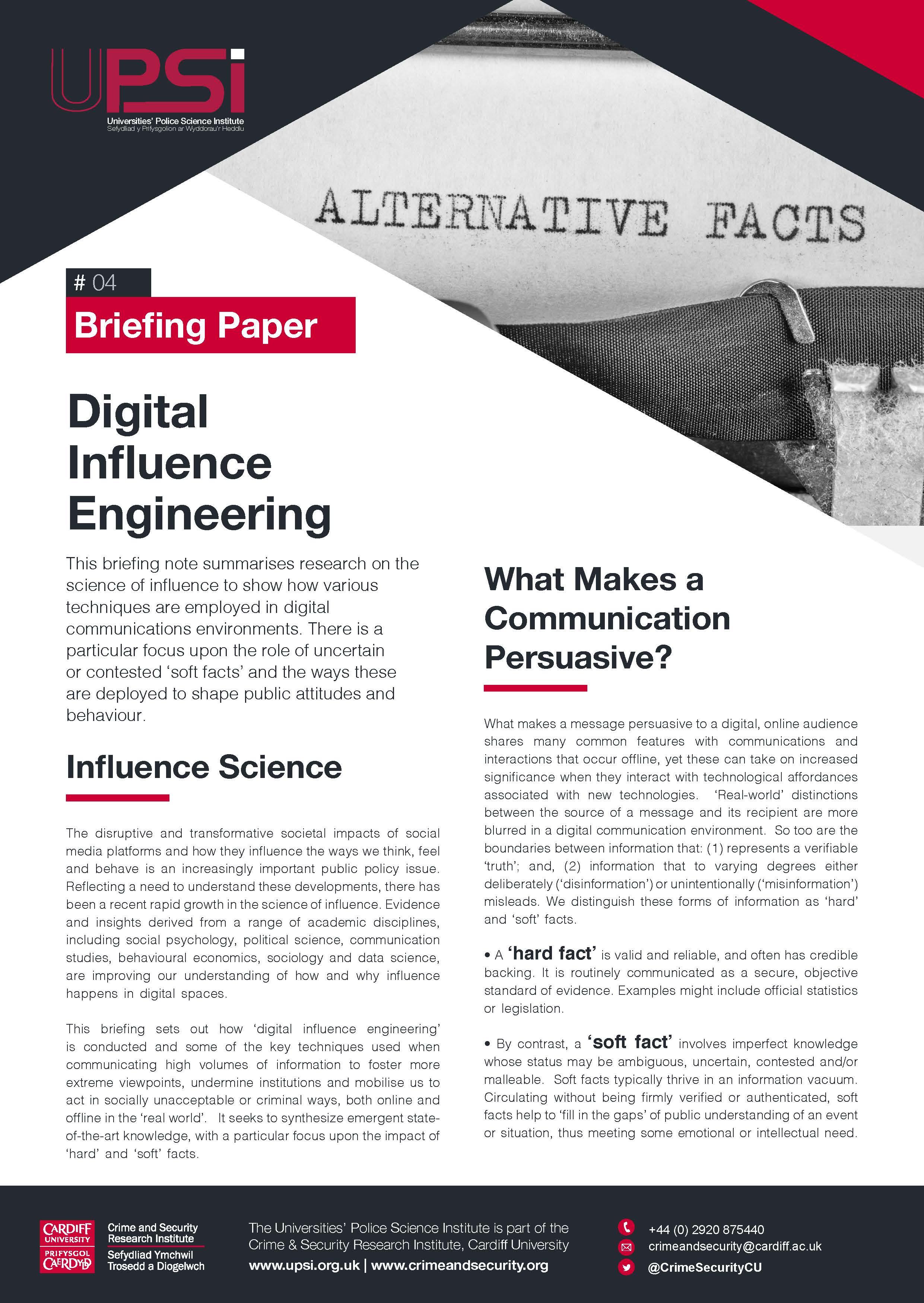 Digital Influence Engineering -